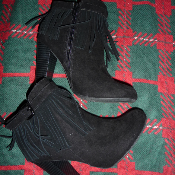 Material Girl Shoes - New Fringed Boots